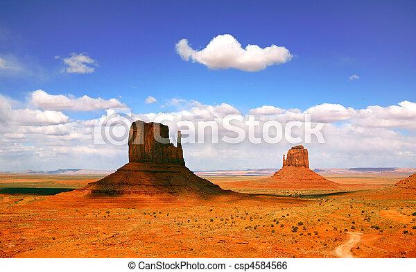 bello, valle, arizona, paesaggio, monumento - csp4584566