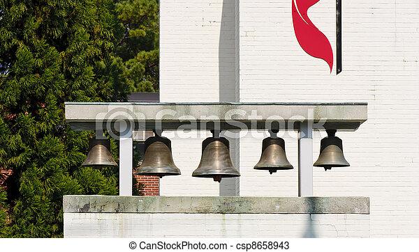 Bells at Methodist Church - csp8658943