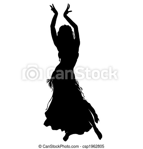 bellydancer, silhouette - csp1962805