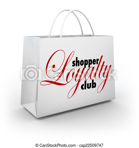 beloningen, shoppen , koper, club, trouw, zak, programma, bevordering - csp22509747
