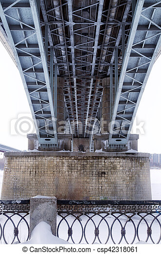 below the bridge - csp42318061