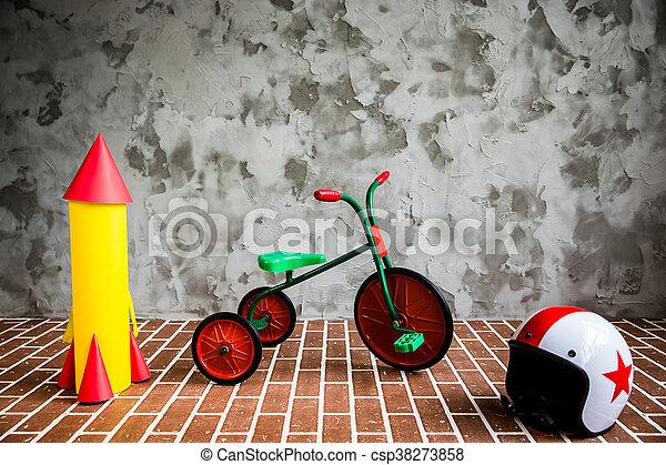 belső, bicikli, grunge, retro - csp38273858