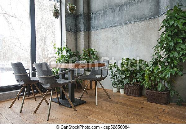 belső decor, kávéház, zöld - csp52856084