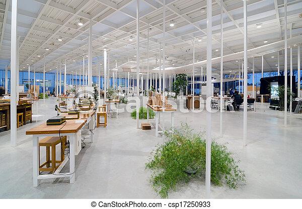 belső, hely, ipari, modern, műhely - csp17250933