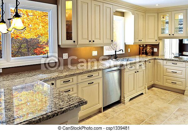 belső, modern, konyha - csp1339481