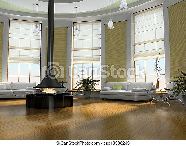 belső, otthon, 3, vakolás - csp13588245