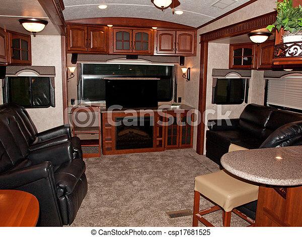 belső, recreational jármű - csp17681525