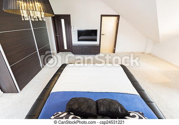 belső, tágas, hálószoba - csp24531221