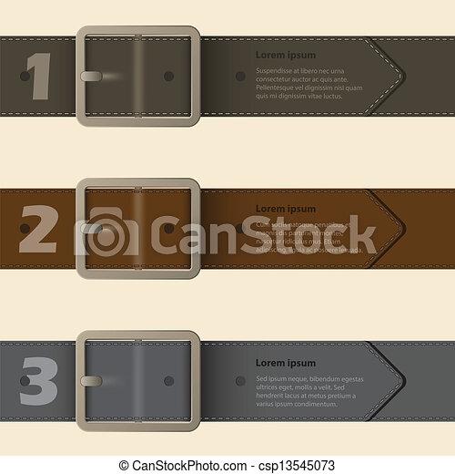 Belt buckle infographic design - csp13545073