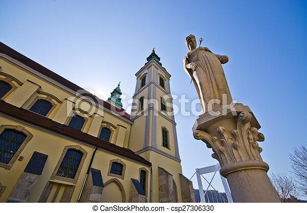 Belvarosi plebaniatemplom church in Budapest - Hungary - csp27306330