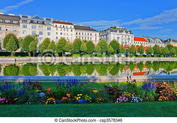Belvedere garden in Vienna, Austria - csp3578346
