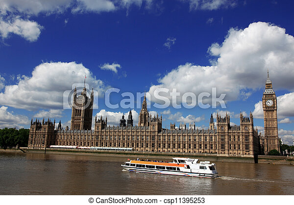 ben, 房子, 英國, 大, 議會, 倫敦 - csp11395253
