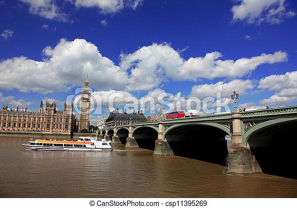 ben, 房子, 英國, 大, 議會, 倫敦 - csp11395269