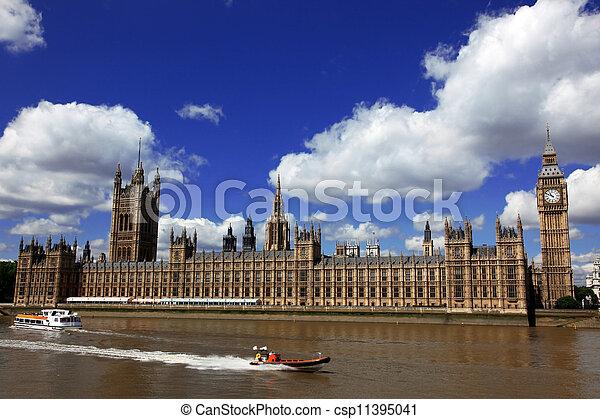 ben, 房子, 英國, 大, 議會, 倫敦 - csp11395041