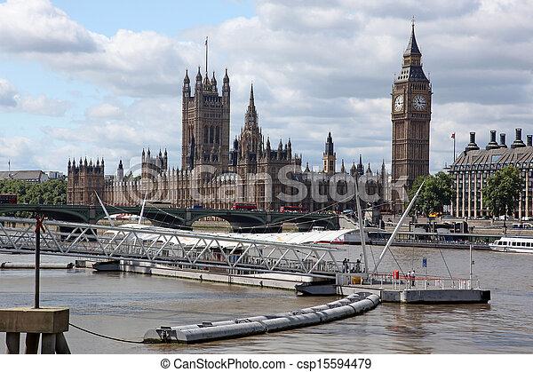 ben, 房子, 英國, 大, 議會, 倫敦 - csp15594479