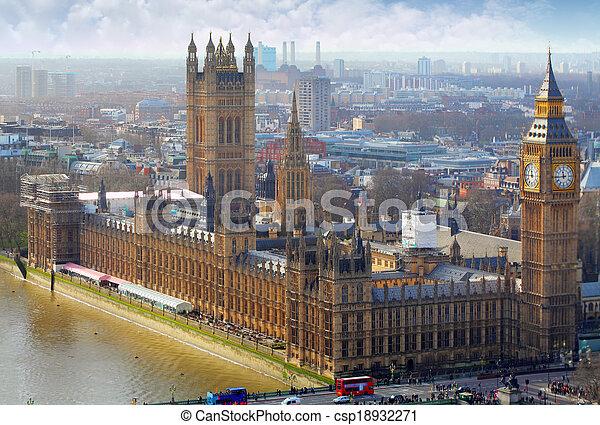 ben, groß, häusser, vereinigtes königreich, parlament, london - csp18932271