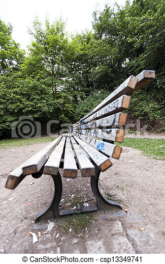 Bench at the Park - csp13349741