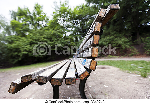 Bench at the Park - csp13349742