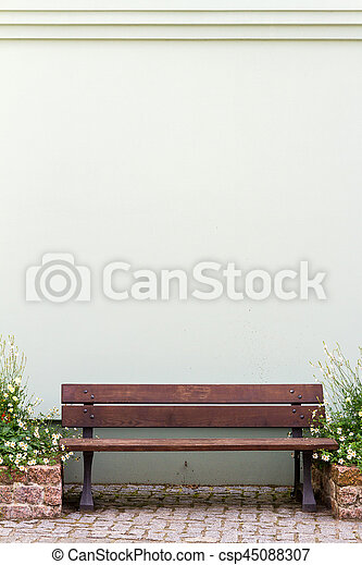 Bench by the house - csp45088307