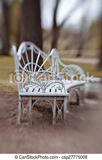 Bench in Pavlovsk Park - csp27775008