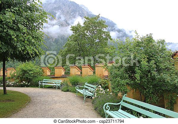 Bench in the garden - csp23711794