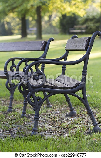 bench in the park - csp22948777