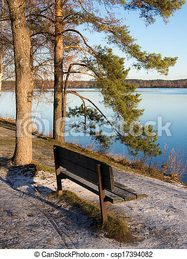 bench in the park - csp17394082