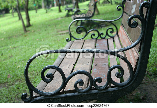 bench in the park - csp22624767