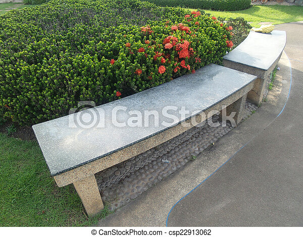 Bench in the park - csp22913062