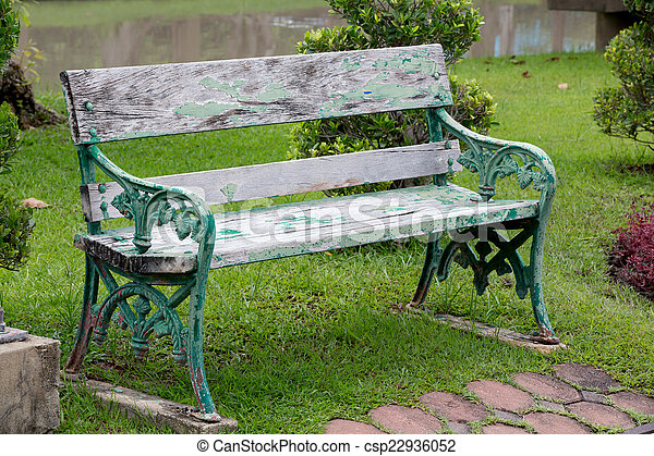 bench in the park - csp22936052
