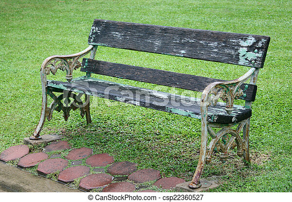 Bench in the park - csp22360527