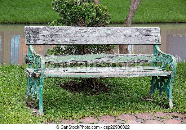 bench in the park - csp22936022