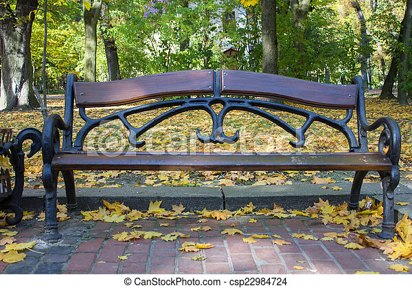 bench in the park - csp22984724