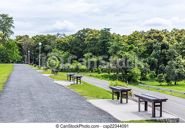 Bench in the park - csp22344091