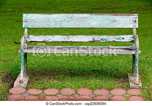 bench in the park - csp22936094