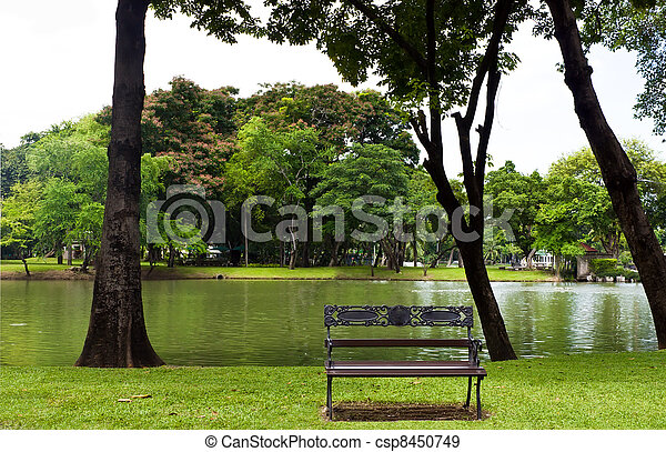 Bench in the park - csp8450749