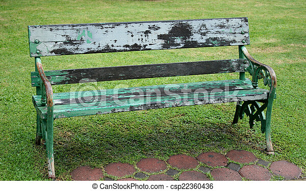 Bench in the park - csp22360436