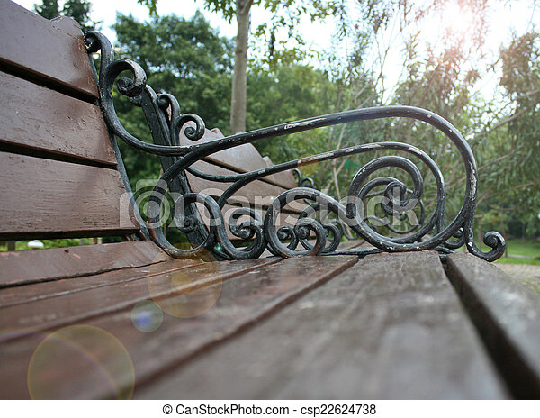 Bench in the park - csp22624738