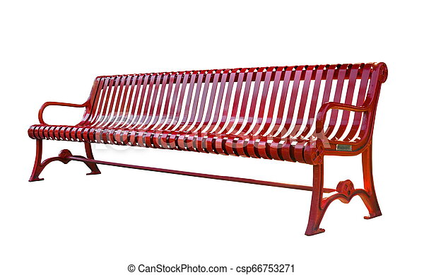 Bench isolated on the white - csp66753271