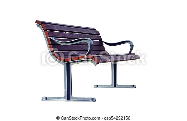 Bench isolated on the white - csp54232156