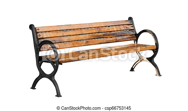 Bench isolated on the white - csp66753145