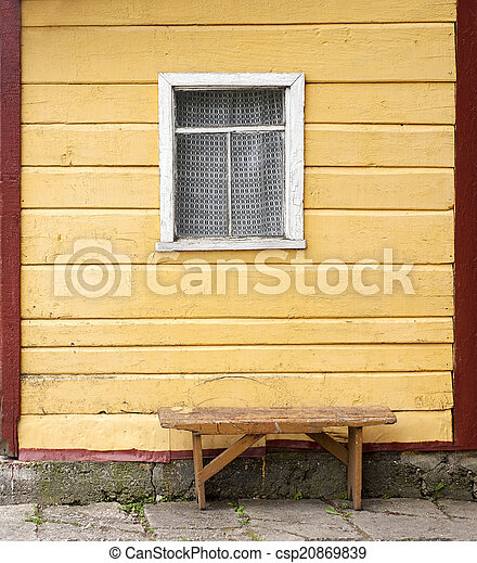 Wondrous Bench Near The Wooden Wall With Window Onthecornerstone Fun Painted Chair Ideas Images Onthecornerstoneorg