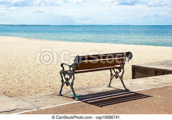 Bench on the beach - csp10686741