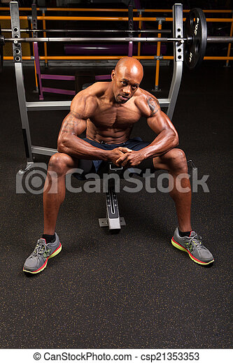 Bench Press Weight Training - csp21353353