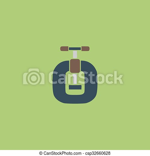 Bench vices flat icon - csp32660628