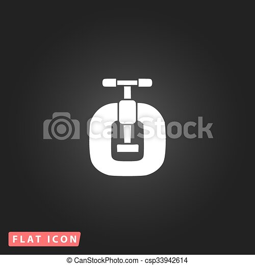 Bench vices flat icon - csp33942614