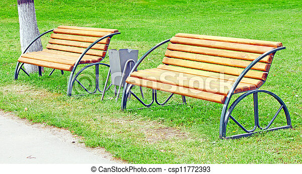 Benches in the park - csp11772393