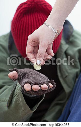 Benefit for homeless man - csp16344966