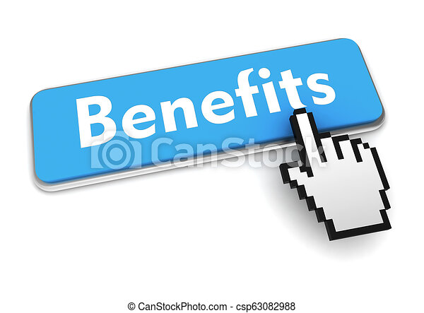 benefits button concept 3d illustration - csp63082988