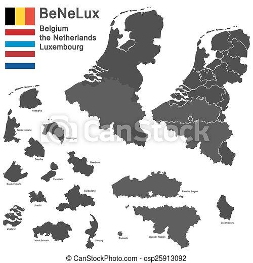BeNeLux countries - csp25913092